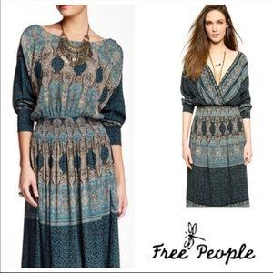 Free People Paisley Boho Reversible Dress